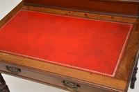 Antique Victorian Mahogany Leather Top Desk / Writing Table (13 of 13)
