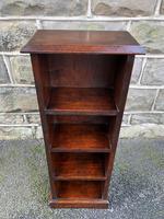 Antique Slim Oak Open Bookcase