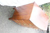 1900's Mahogany 4 Drawer Bow Chest Drawers just Polished (2 of 5)