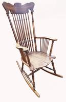 Lovely Quality 19th Century Mahogany Rocking Chair (2 of 4)
