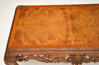 Antique Burr Walnut Queen  Anne Style Coffee Table (5 of 10)