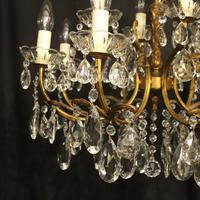 Italian Gilded 12 Light Double Tiered Antique Chandelier (4 of 10)