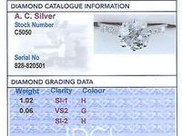 1.08ct Diamond and Platinum Solitaire Ring - Antique Circa 1930 (4 of 9)