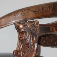 Carved Oak Victorian Desk Chair (3 of 9)