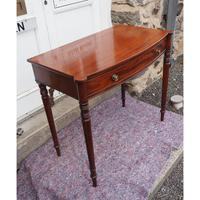 Georgian Mahogany Bow Front Side Table (4 of 6)