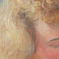 Hugo Ziegler, Study Of An Angel, Oil Painting (3 of 7)