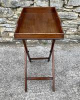 Small Antique Mahogany Butlers Tray on Stand (8 of 15)