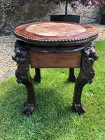 Chinese Hongmu Jardinière or Side Table with Marble Inset, Antique (5 of 16)
