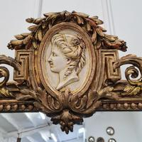 Large Antique French Mirror c.1860 (6 of 9)