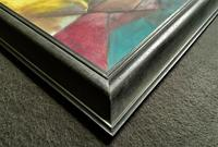 Original 20th Century Continental Abstract Cubism Style Portrait Oil Painting (9 of 11)