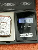 Antique Sterling Silver Hallmarked Vesta 9ct Gold Cartouche 1911, Smith & Bartlam (9 of 9)