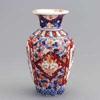 19th Century Japanese Meiji Period Reeded Imari Vase c1880 (2 of 8)