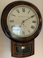Rosewood Late Victorian Fusee Timepiece (3 of 11)