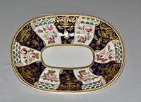 19th Century Stevenson & Hancock Derby Rounded Rectangular Dish (5 of 7)