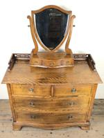 Edwardian Mahogany Serpentine Dressing Table Chest (2 of 9)