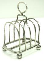 English Antique Solid Silver Art Deco Toast Rack, Super Design Fresh & Clean c.1920 (3 of 5)