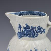 Caughley Porcelain Mask Jug Fisherman & Cormorant Pattern (7 of 13)