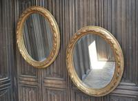 Pair of Gilt French Oval Mirrors (2 of 7)