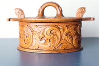 Scandinavian / Norwegian 'Folk Art' Baroque / Acanthus Carved Tine Box c.1910 (7 of 39)