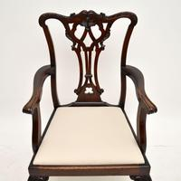 Set of 8 Antique Mahogany Chippendale Dining Chairs (6 of 14)