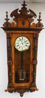 Rare Impressive Antique Burr Walnut 8-Day Twin Weight Striking Vienna Regulator Wall Clock by Gustav Becker (13 of 13)