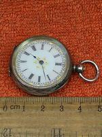 Antique .935 Silver Swiss Hallmarked Pocket Fob Watch c.1880 (6 of 8)