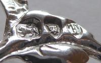 Victorian London 1894 Hallmarked Solid Silver Nurses Belt Buckle (5 of 9)