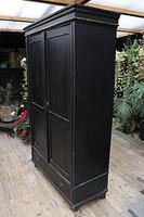 Gorgeous! Large Old Victorian Pine & Black Painted Hall Cupboard / Wardrobe - We Deliver! (8 of 10)