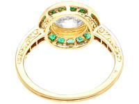 1.05ct Emerald & 1.18ct Diamond, 18ct Yellow Gold Dress Ring c.1930 (4 of 9)