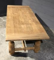 Large Refectory Bleached Oak Farmhouse Table (11 of 17)
