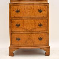 Antique  Georgian Style Burr Walnut Chest on Chest (5 of 11)