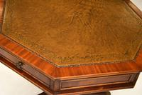 Regency Style Mahogany  Leather Top Drum Table (8 of 8)
