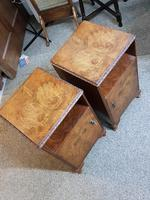 Pair of Walnut Bedside Tables (3 of 5)