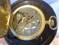 Vintage Pocket Watch 1970s Swiss Avia 17 Jewel 12ct Gold Plated Full Hunter Fwo (11 of 12)