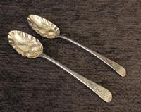 Antique Pair of Silver Berry Spoons (2 of 10)