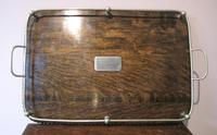 Antique Galleried Oak Serving Tray (5 of 6)