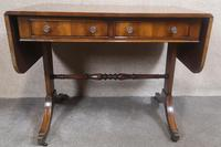 Regency Style Inlaid Mahogany Sofa Table by Thomas Glenister High Wycombe, Bucki (8 of 9)
