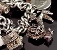 Vintage Sterling Silver Charm Bracelet, 1960s - Heavy (6 of 12)