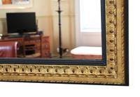 Large Black and Gilt 19th Century Overmantle or Wall Mirror (4 of 6)