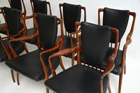 Rosewood & Leather Dining Table & Chairs by AJ Milne for Heals (12 of 22)