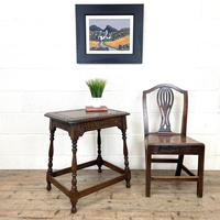 Early 20th Century Antique Oak Carved Side Table (2 of 10)