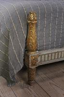Lovely Carved Gilded Frame French King Size Bed (4 of 7)