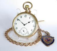 Antique Record Pocket Watch & Chain
