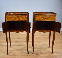 Pair of Louis XVI Style Marquetry Inlaid Bedsides Cabinets (7 of 8)