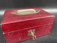 Victorian Leather Jewellery Box with Key (4 of 4)