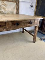 Superb Large 19th Century Pine Kitchen Table (5 of 10)