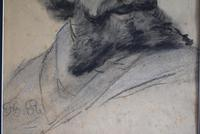 19th Century Charcoal Drawing Bearded Gent (6 of 10)