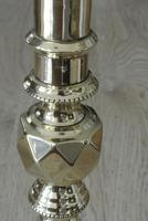 "Pair of Large Victorian Beehive & Diamond Brass Candlesticks c.1890 - Pushers 11.75"" (5 of 7)"