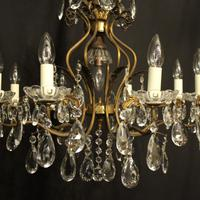French Gilded 9 Light Birdcage Antique Chandelier (9 of 10)