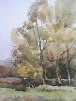 Watercolour Autumn in Wiltshire by Ronald Birch (5 of 10)